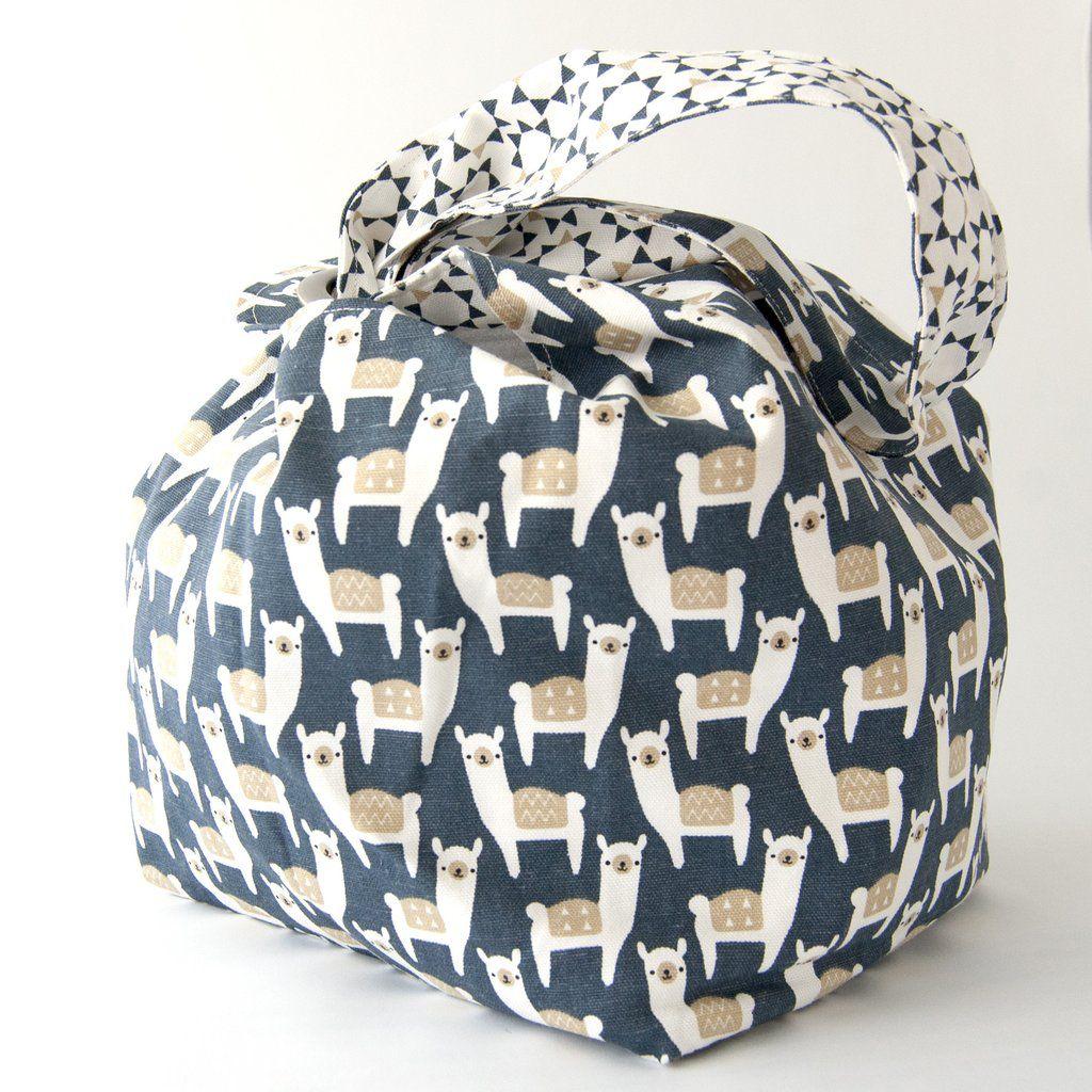 Binkwaffle Dumpling Bag - Large, Alpacas