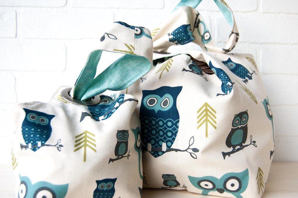Binkwaffle Dumpling Bag - Small, Hooty Blue
