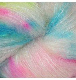 Hedgehog Fibres Hand Dyed Yarns Kidsilk Lace, Genie