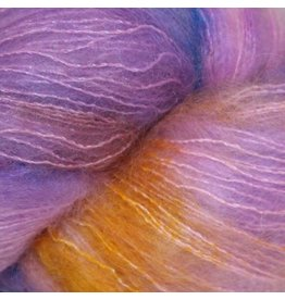 Hedgehog Fibres Hand Dyed Yarns Kidsilk Lace, Birthday Cake