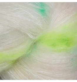 Hedgehog Fibres Hand Dyed Yarns Kidsilk Lace, Pesto