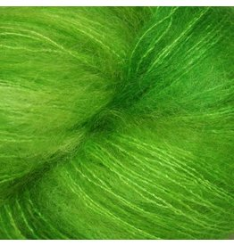Hedgehog Fibres Hand Dyed Yarns Kidsilk Lace, Shamrock