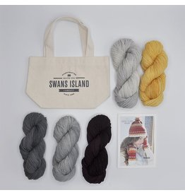 Swans Island Phoebe Hat and Mitts Kit, Neutrals