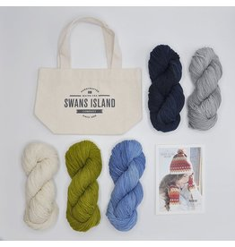 Swans Island Phoebe Hat and Mitts Kit, Blues