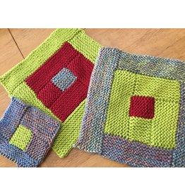 For Yarn's Sake, LLC Log Cabin Knitting.  Sunday February 11, 2018. Class time: 1-3:30pm.