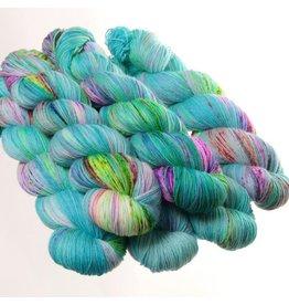 Hedgehog Fibres Hand Dyed Yarns Sock Yarn, Bubble