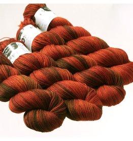Hedgehog Fibres Hand Dyed Yarns Sock Yarn, Copper Penny