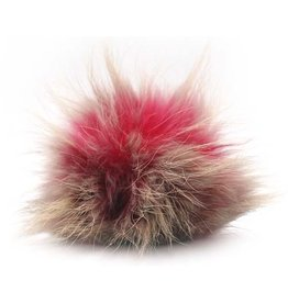 Lana Grossa PomPom, Pink/Charcoal