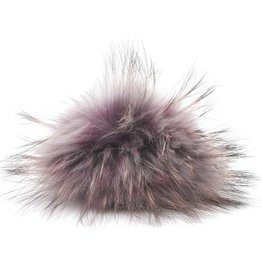 Lana Grossa PomPom, Eggplant with Grey Black