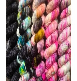 For Yarn's Sake, LLC Fading Point Smooshy Yarn Kit, Black Pearl Electric *Pre-Order*