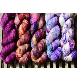 For Yarn's Sake, LLC Fading Point Wrap Kit, Velvet Port Beauty (Smooshy)