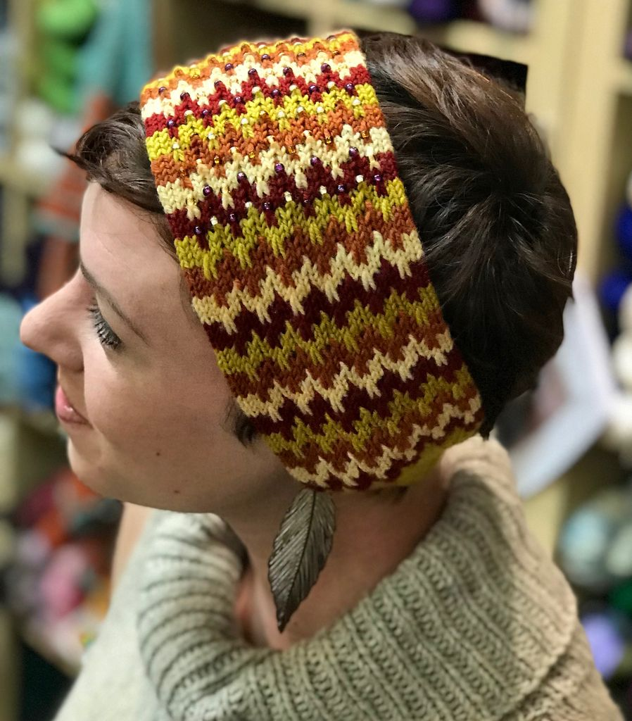For Yarn's Sake, LLC Summer Color and Beads: The Dancing Lights Headband. Saturday July 21, 2018. Class time: 1-4pm.