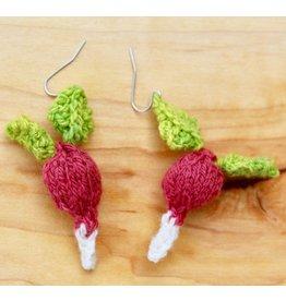 For Yarn's Sake, LLC Luna's Radish Earring Kit