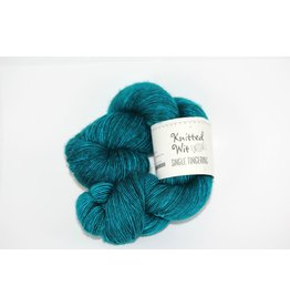 Knitted Wit Single Fingering, Kiss & Teal