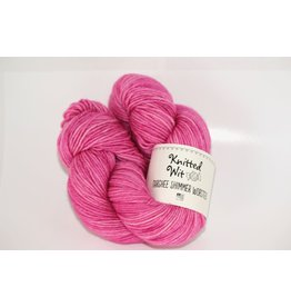 Knitted Wit Targhee Shimmer Worsted, Bashful