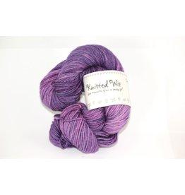 Knitted Wit Targhee Shimmer Worsted, Italian Plum
