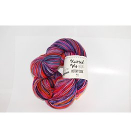 Knitted Wit Victory Sock, Endless Summer Series - Berry Picking