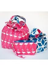 Binkwaffle Dumpling Bag - Small, Pink Flamingos