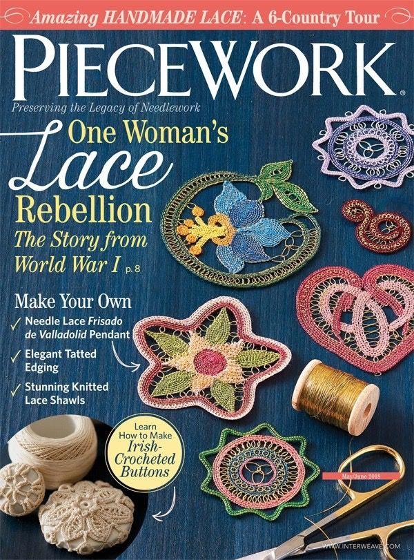 Interweave Piecework, May June 2018