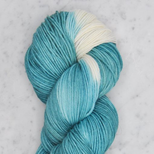 Swans Island Dip Dyed Collection, Big Dippers, Verdigris/Natural