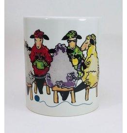 Knit Baah Purl Full Color Mug, Wendy's Knitting Circle