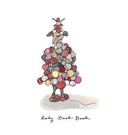 Knit Baah Purl Single Card, Lady Baah Baah