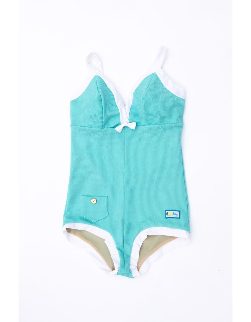 Twb Collection The Deco Suit - Sea Foam and White