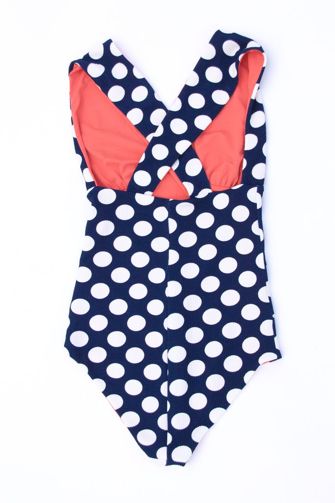 Twb Collection Norma Suit- Navy Dot/ Watermelon