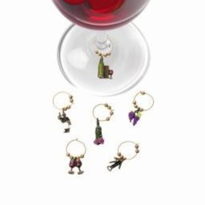 Accessories Connoisseur-Themed Wine Charms