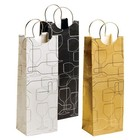 Accessories Assorted Silhouette 1-Bottle Gift Bag