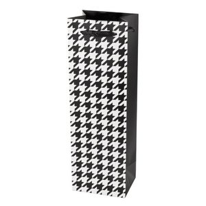 Accessories Houndstooth 1-Bottle Gift Bag