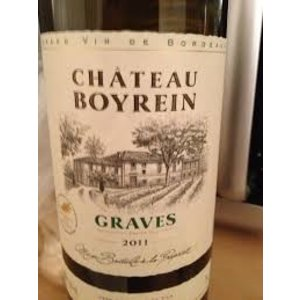 Wines and sakes Graves Blanc 2013 Chateau Boyrein  750ml