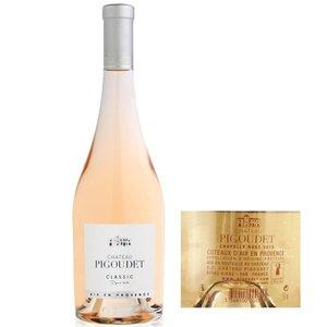 """Wines and sakes Coteaux d'Aix en Provence Rose 2017 Chateau Pigoudet """"Classic"""" 750ml"""