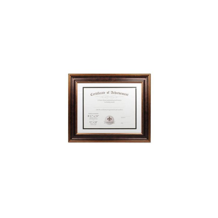 Lawrence Frames Dual Use Beaded Diploma Frame with Double Bevel Cut Matting for 8.5x11 or 11x14,