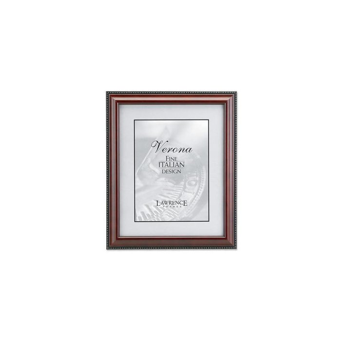 Lawrence Frames Walnut Wood & Gold Bead Picture Frame,
