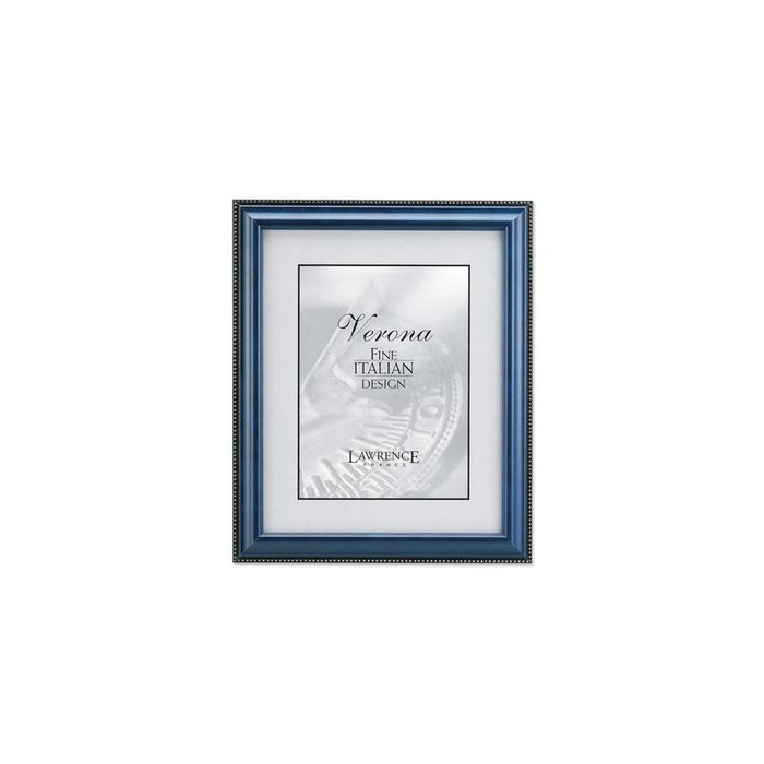 Lawrence Frames Blue Wood & Gold Bead Picture Frame,