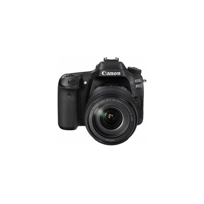 Canon EOS 80D DSLR Camera Kit w/EF-S 18-135mm F3.5-5.6 IS USM Lens