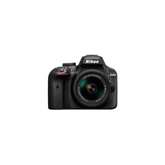 Nikon D3400 DSLR Camera Body w/NIKKOR 18-55mm f/3.5-5.6G AFP DX VR Lens,