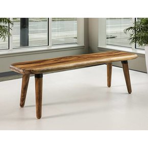"Acacia Rounded Freeform Bench 16""-18"" x 60"""