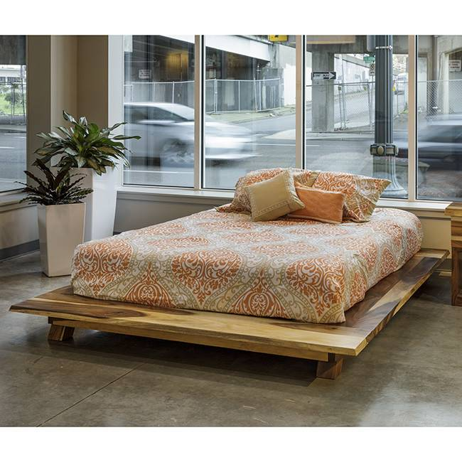 acacia zen bed king