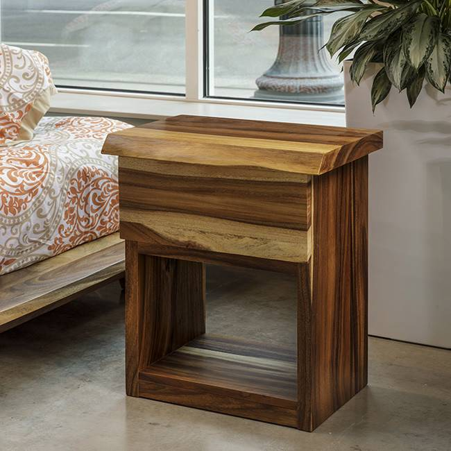 Awesome Acacia Bed Side Table