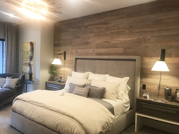 Kuikui Teak Wall Paneling in Street of Dreams master bedroom