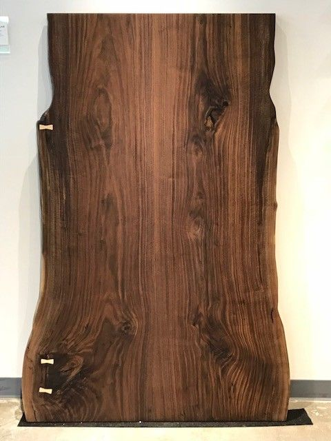 "Black Walnut Slab - Fabricated 66"" x 33.5"" x 1.5"""