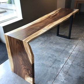 "Acacia Waterfall Desk 20"" x 76"""
