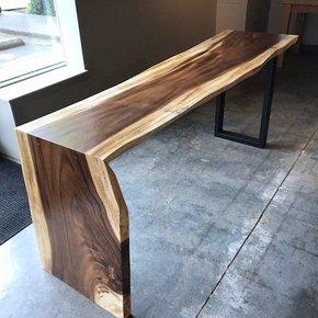 Acacia Waterfall Desk