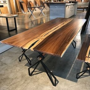 "Acacia Joined Slab Table 79"" x 31"""