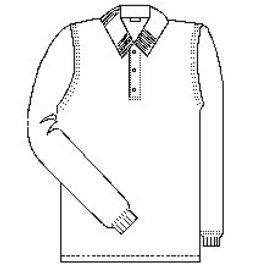 St. Rita Long Sleeve Polo