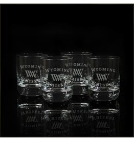 EGrandstand Etched 9 oz. Rocks Glasses (Set of 4)