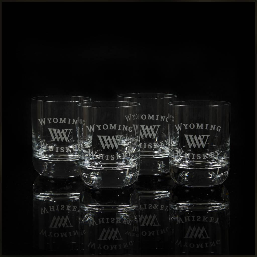 EGrandstand Etched 9 oz. Rocks Glasses (Set of 4)