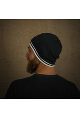 Tormack Black & White Knit Beanie